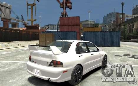 Mitsubishi Lancer Evolution IX 2010 for GTA 4 right view