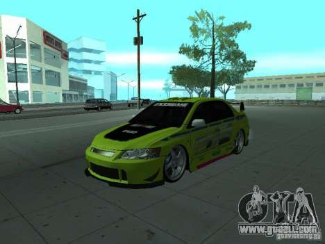 Mitsubishi Lancer Evolution 8 for GTA San Andreas wheels