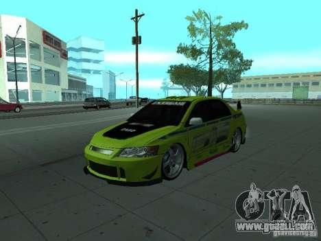 Mitsubishi Lancer Evolution 8 for GTA San Andreas wheels