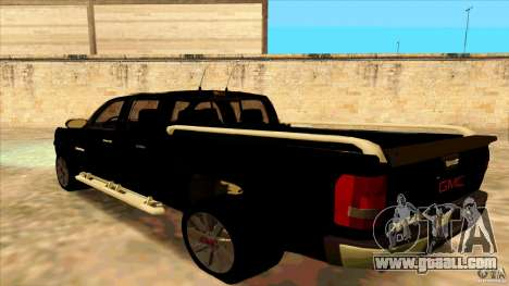 GMC Sierra 2011 for GTA San Andreas left view