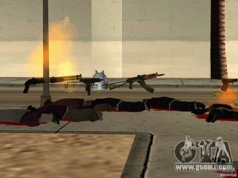Domestic weapons-version 1.5 for GTA San Andreas tenth screenshot