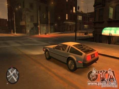 De Lorean DMC 12 for GTA 4 back view