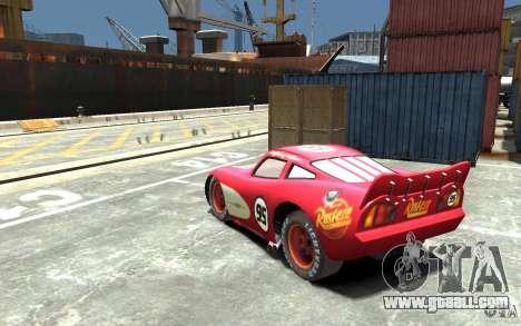 Lighting McQueen for GTA 4 back left view