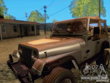 Jeep Wrangler 1994 for GTA San Andreas left view