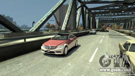 Mercedes-Benz E 500 Coupe V2 for GTA 4 left view
