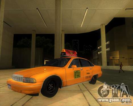 Chevrolet Caprice Taxi 1991 for GTA San Andreas