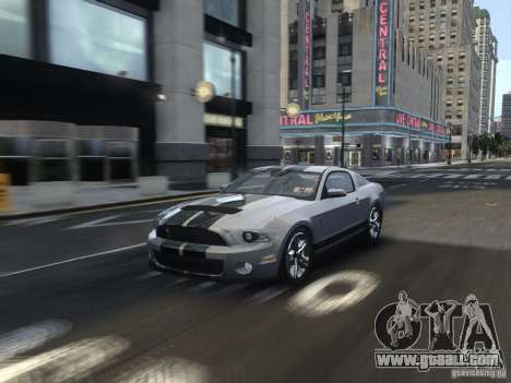 Shelby GT500 2010 for GTA 4 side view