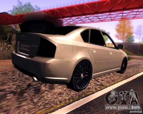 Subaru Legacy 3.0 R tuning v 2.0 for GTA San Andreas back left view