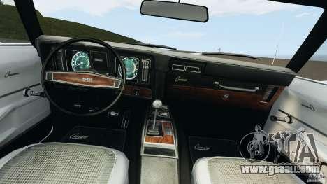 Chevrolet Camaro SS 350 1969 for GTA 4 back view