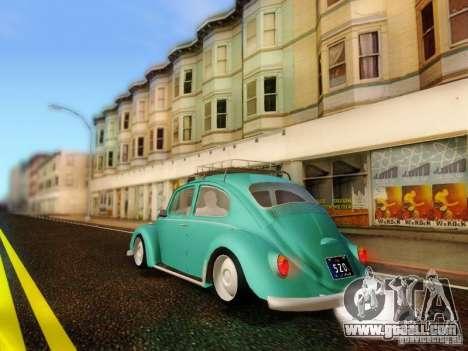 Volkswagen Beetle 1300 for GTA San Andreas left view