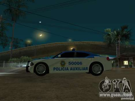 Dodge Charger Police for GTA San Andreas back view