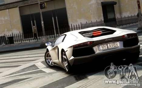 Lamborghini Aventador LP700-4 2012 for GTA 4 back left view