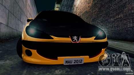 Peugeot 206 for GTA 4 back view
