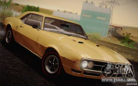Pontiac Firebird 400 (2337) 1968 for GTA San Andreas inner view