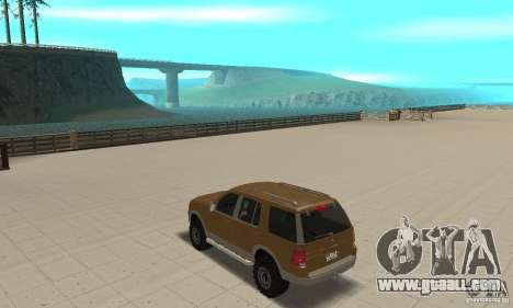 Ford Explorer 2002 for GTA San Andreas back left view