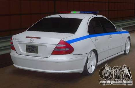 MERCEDES BENZ E500 w211 SE Police Russia for GTA San Andreas left view