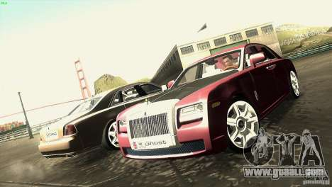 Rolls-Royce Ghost 2010 V1.0 for GTA San Andreas inner view
