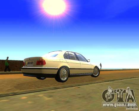 BMW 735i for GTA San Andreas left view