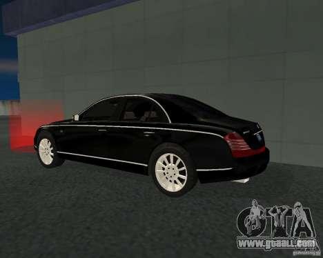Maybach 57S for GTA San Andreas right view
