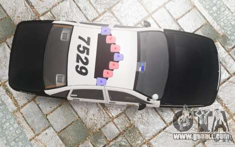 Chevrolet Caprice 1991 Police for GTA 4 bottom view
