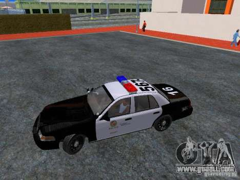 Ford Crown Victoria San Andreas State Patrol for GTA San Andreas inner view