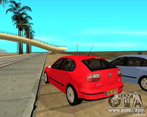 Seat Leon 1.9 TDI for GTA San Andreas back left view