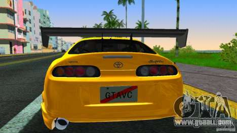 Toyota Supra JZA80 C-West for GTA Vice City back left view
