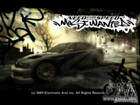 Loading screens in the style of NFS: Most Wanted for GTA San Andreas