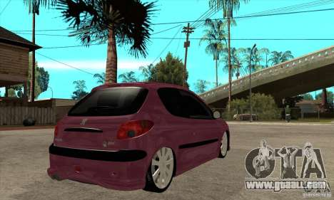 Peugeot 206 Suspen AR for GTA San Andreas right view