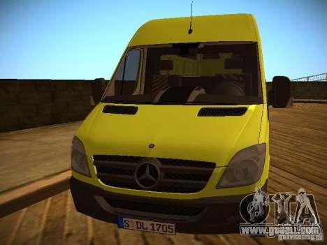 Mercedes Benz Sprinter 311 CDi for GTA San Andreas left view