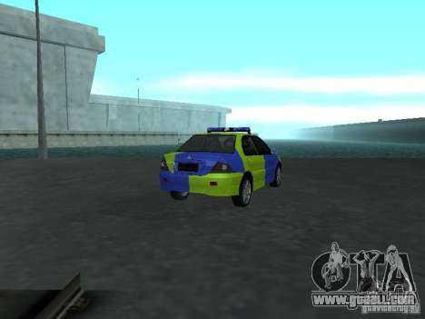 Mitsubishi Lancer Police for GTA San Andreas back left view