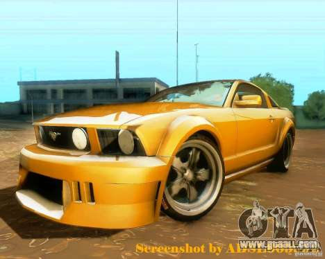 Ford Mustang GT 2005 Tunable for GTA San Andreas back left view