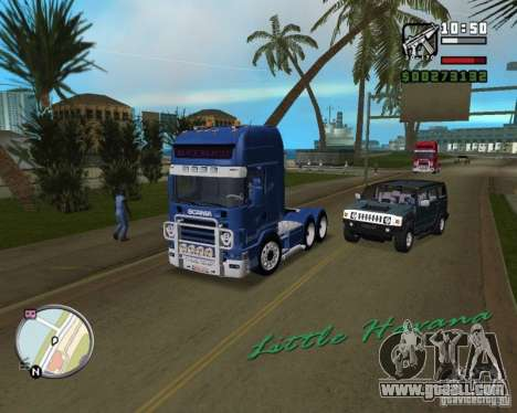 SCANIA 164L 580 V8 for GTA Vice City back view