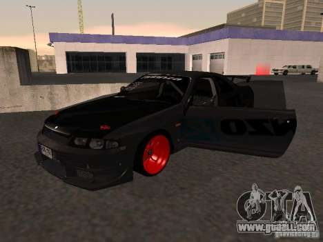 Nissan Skyline R33 for GTA San Andreas inner view