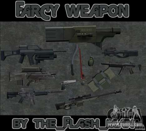 FarCry weapone for GTA San Andreas