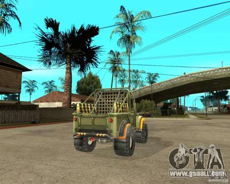 GAZ 69 Trial for GTA San Andreas back left view