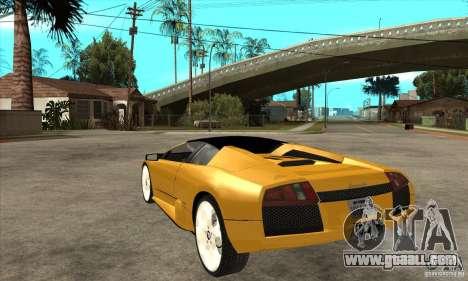 Lamborghini Murcielago Roadster Final for GTA San Andreas back left view