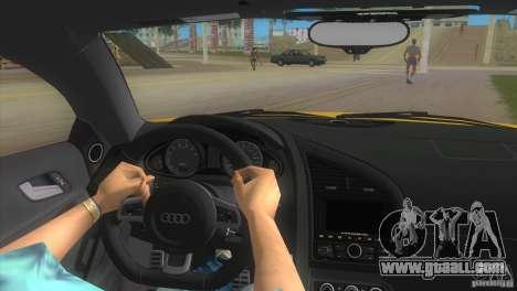 Audi R8 V10 TT Black Revel for GTA Vice City right view