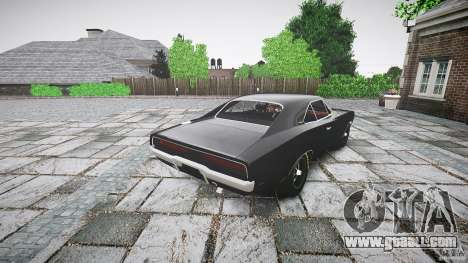 Dodge Charger RT 1969 for GTA 4 back left view