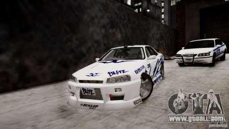 Nissan Skyline R-34 v1.0 for GTA 4