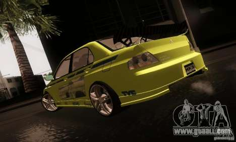 Mitsubishi Lancer Evolution 8 for GTA San Andreas left view