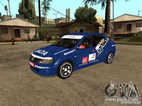 Dacia Logan Rally Dirt for GTA San Andreas inner view