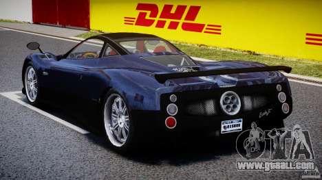 Pagani Zonda F for GTA 4 side view