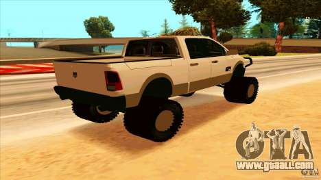 Dodge Ram 2500 4x4 for GTA San Andreas back left view