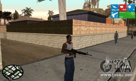 Windows 8 HUD for GTA San Andreas second screenshot