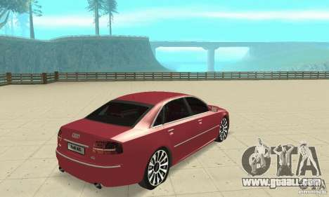 Audi A8L 4.2 FSI for GTA San Andreas left view