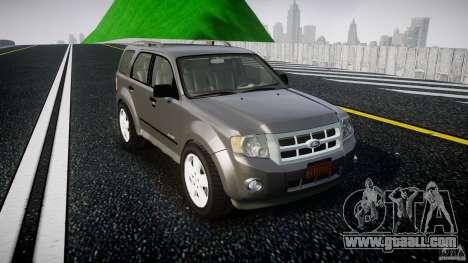Ford Escape 2011 Hybrid Civilian Version v1.0 for GTA 4 inner view
