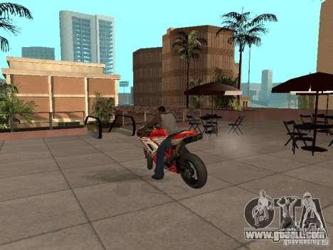 Ducati 1198R for GTA San Andreas back left view