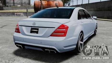 Mercedes-Benz S65 W221 Vossen v1.2 for GTA 4 back left view