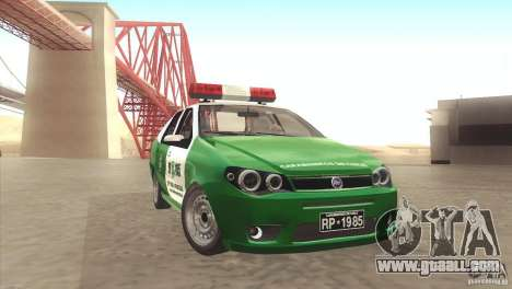 Fiat Siena Carabineros De Chile for GTA San Andreas